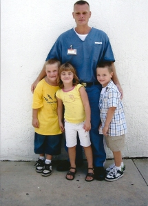 Jamie Brown with his kids